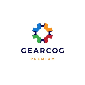 Gear cog cogs logo pictogram illustratie