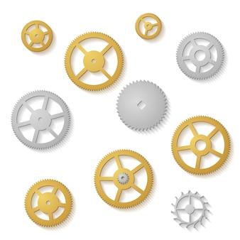 Gear collectie klok machine wielen gradiënt