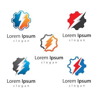 Gear power logo afbeeldingen afbeelding ontwerp
