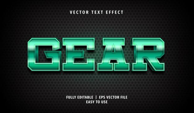 Gear teksteffect, bewerkbare tekststijl