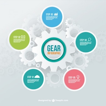 Gears infographic template