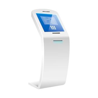 Geautomatiseerde teller machine realistische afbeelding Premium Vector