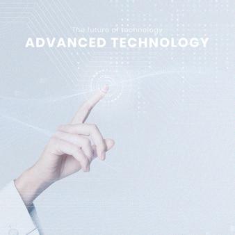 Geavanceerde technologie bewerkbare sjabloon futuristische innovatie voor post op sociale media