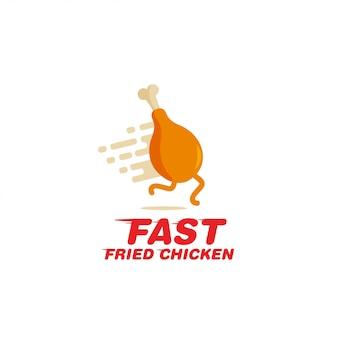 Gebakken chciken logo vector.