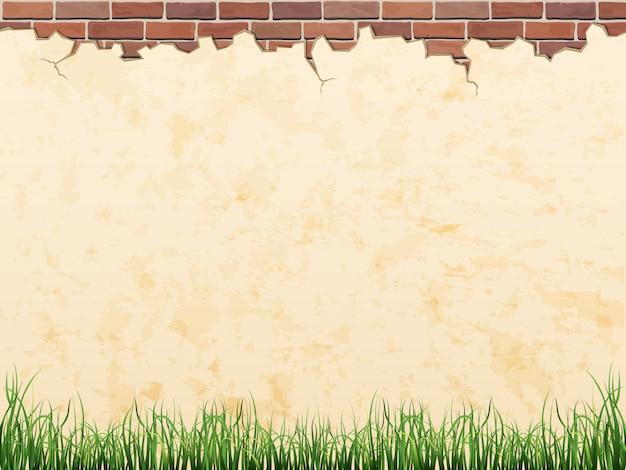 Gebarsten concrete uitstekende muurachtergrond.