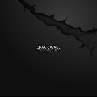 Gebarsten gat in de muurbanner