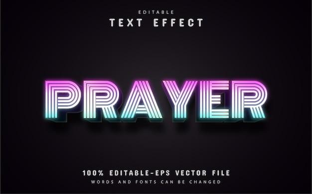 Gebedstekst, 3d-tekstverloopeffect
