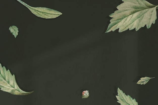Gebladerte op groene achtergrond