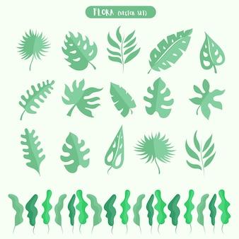 Gebladerte van de jungle. groene palmbladeren. tropische plant.
