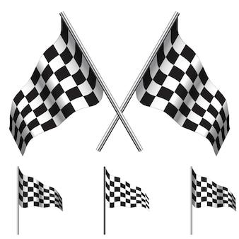 Geblokte vlaggen racen