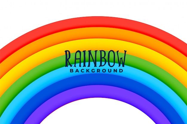 Gebogen regenboog kleurrijke achtergrond