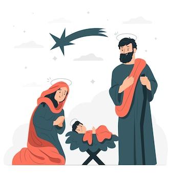 Geboorte concept illustratie
