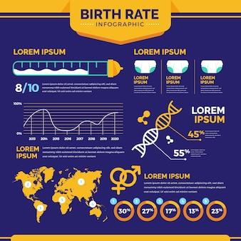 Geboortecijfer infographic concept