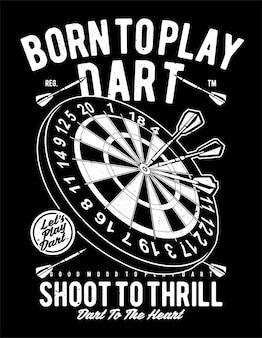 Geboren om dart te spelen