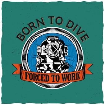 Geboren om ontwerp voor t-shirt afdrukken te rijden