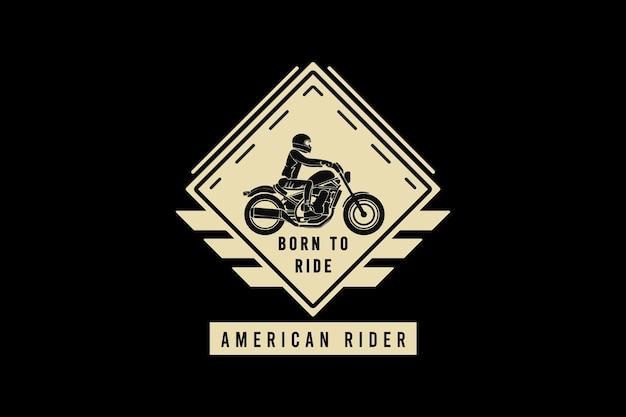 Geboren om op een amerikaanse rijder te rijden, ontwerp sleety-stijl.