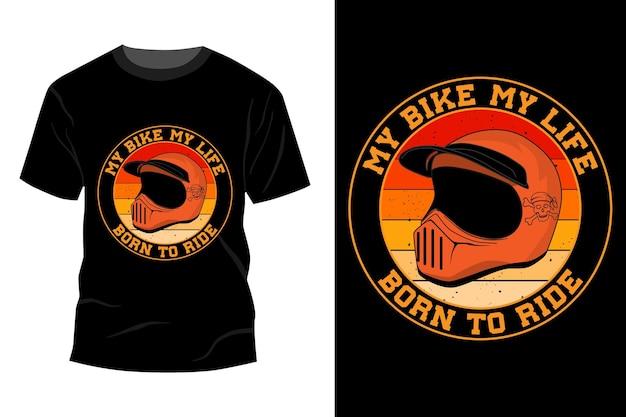 Geboren om te rijden t-shirt mockup ontwerp vintage retro
