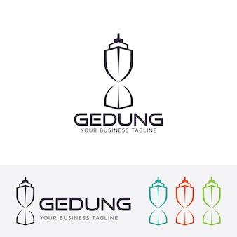 Gebouw concept vector logo sjabloon
