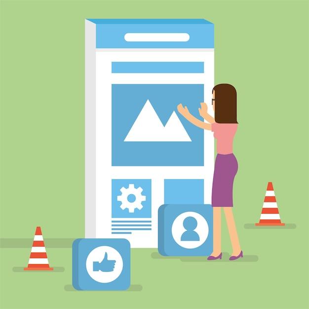 Gebouw gebruikersinterface voor mobiele applicatie