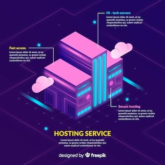 Gebouw hosting service achtergrond