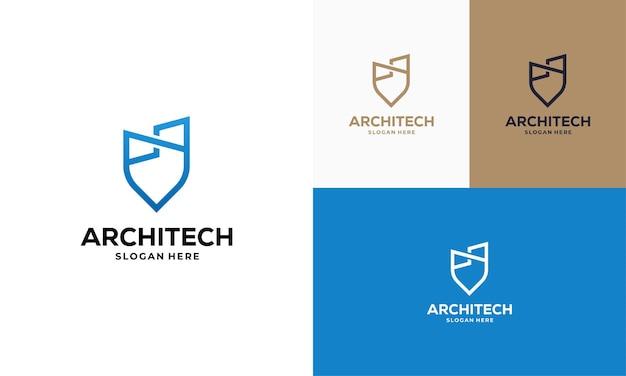Gebouw huis punt logo ontwerpt concept vector, bouw logo sjabloon symboolpictogram, onroerend goed logo symbool