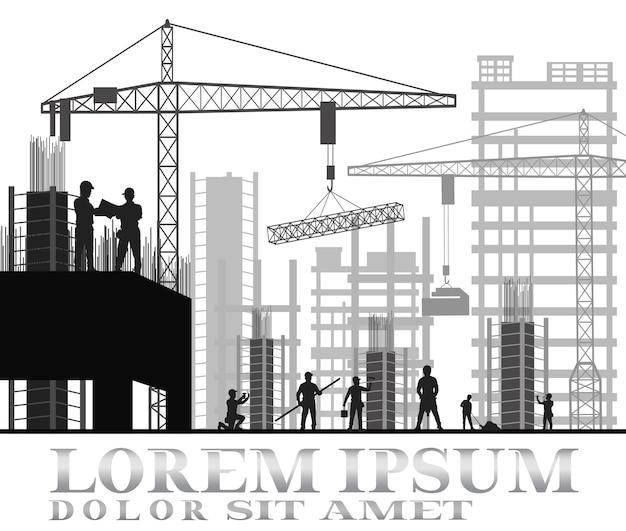 Gebouw in aanbouw site