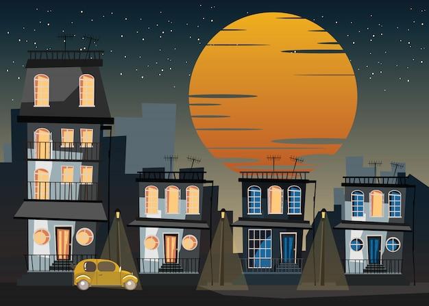 Gebouw in de stad vectorillustratie