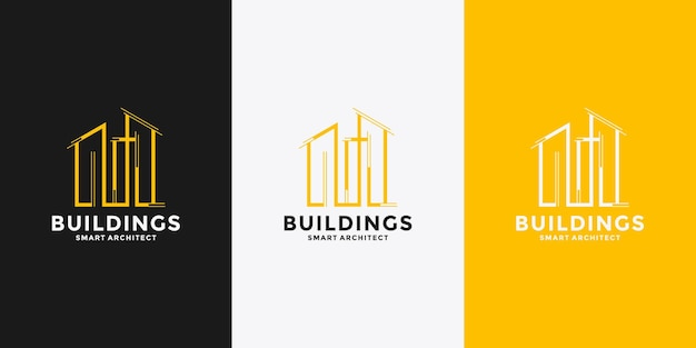 Gebouw met letter m logo ontwerpsjabloon voor uw bedrijf
