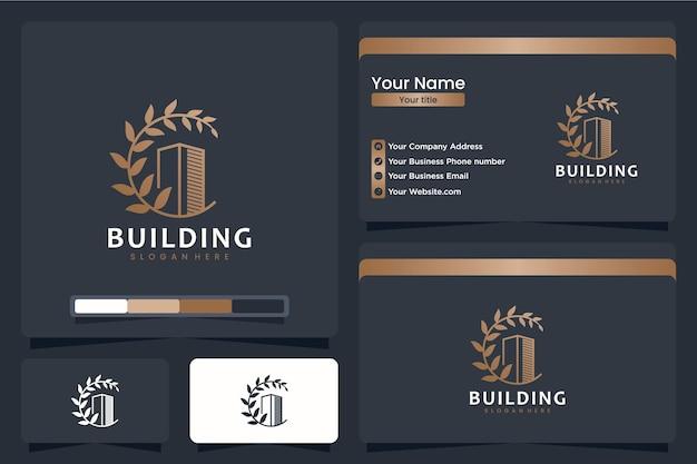 Gebouw, natuurlijk, logo-ontwerpinspiratie