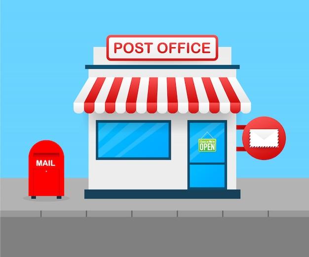 Gebouw van postkantoor.