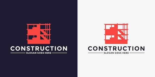 Gebouwen constructie logo ontwerp vector