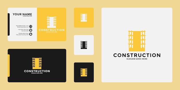 Gebouwen logo ontwerp branding met visitekaartje