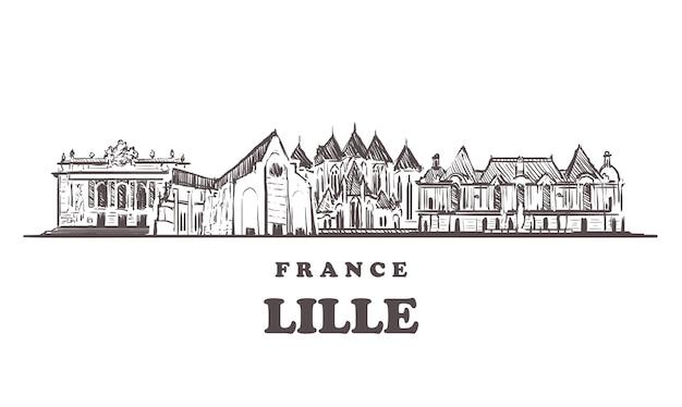 Gebouwen van lille in frankrijk