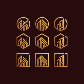 Gebouwset logo kleurovergangen