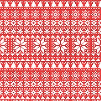 Gebreid kerstpatroon