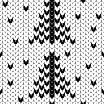 Gebreid naadloos patroon brei textuur sheme staal voor nieuwjaar of kerst