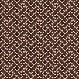 Gebreid naadloos patroon met keltisch plexusornament