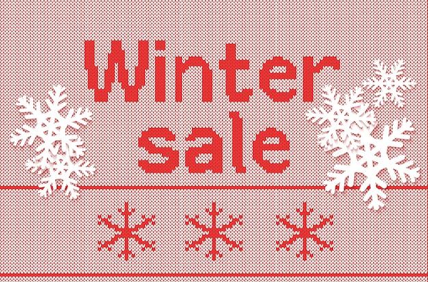 Gebreide achtergrond winter verkoop