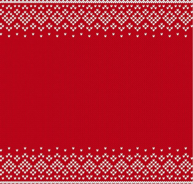 Gebreide gestructureerde achtergrond met lege ruimte voor tekst ... brei geometrisch ornament gebreid patroon voor een trui in fair isle-stijl. illustratie.