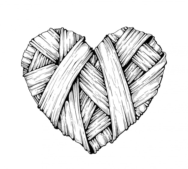 Gebreide harten. graphics.