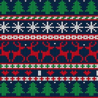 Gebreide kerst patroon concept