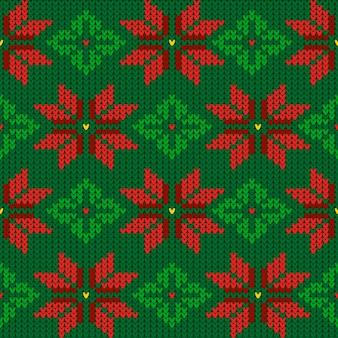 Gebreide kerst patroon sjabloon
