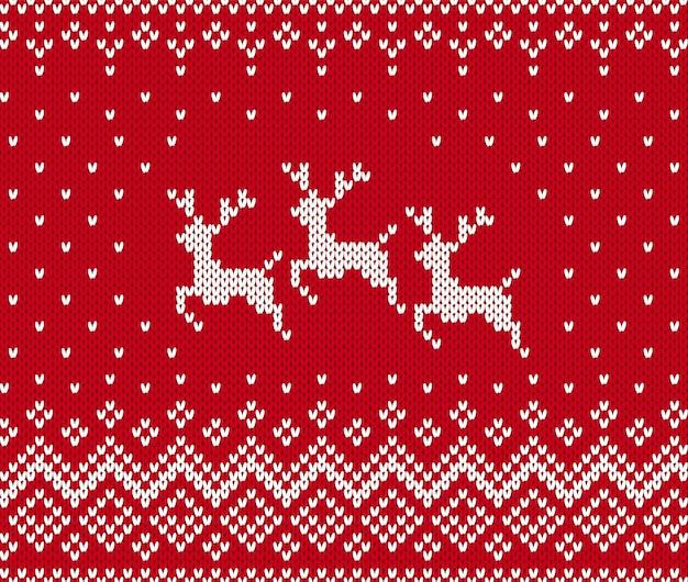 Gebreide kerst patroon.