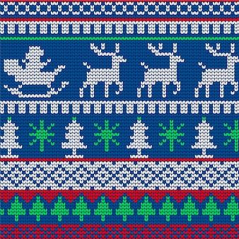 Gebreide kerst patroon