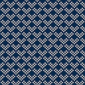 Gebreide trui design. naadloze patroon
