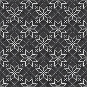 Gebreide trui patroon. naadloze vector achtergrond met grijstinten kleuren. breiwol textuur imitatie.