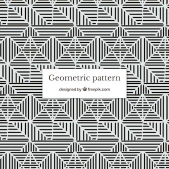 Gebroken en witte geometrische patroonachtergrond