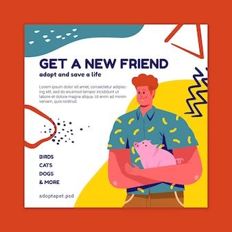 Gebruik een flyer-sjabloon voor huisdieren