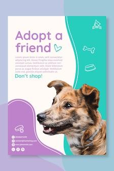 Gebruik een poster-sjabloon voor huisdieren