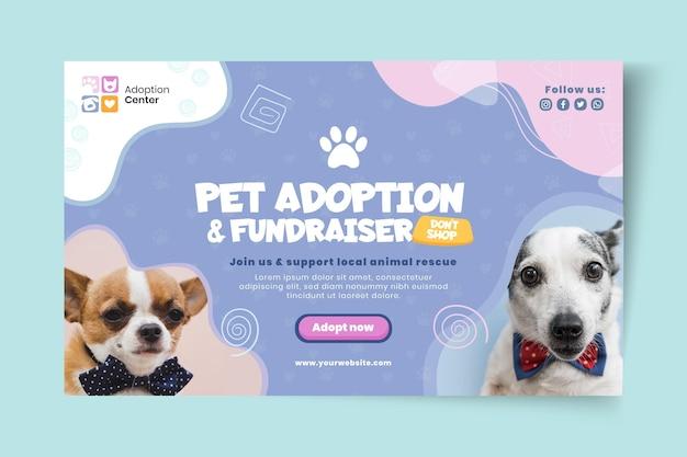 Gebruik een sjabloon voor een horizontale banner voor huisdieren